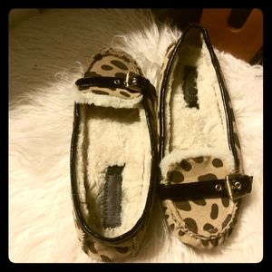 Micheal Kors moccasins cheetah style women's 7 1/2